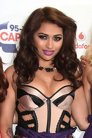 Vanessa White steamed up the Capital FM Summertime Ball in a beige and black corset top.