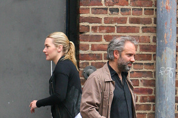 Kate Winslet Sam Mendes Kate Winslet and Sam Mendes Bring Their Kids to School