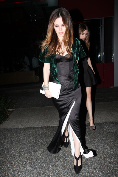 Rachel Bilson Leather Clutch