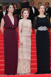 Emily went for a nude lace evening gown for the Cannes Film Festival.