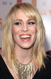 Natasha Bedingfield attended the premiere of 'Morning Glory' wearing a long dramatic pair of false lashes.