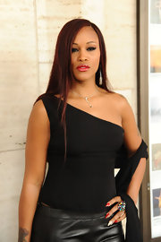 Eve's black one-shoulder top and leather pants during Fashion Week were a fiercely chic pairing.