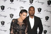 Reality TV babe and soon to be mum pregnant Kim Kardashian and boyfriend rapper Kanye West host the New Years Eve Countdown held at 1 Oak nightclub at the Mirage Hotel and Casino in Las Vegas.