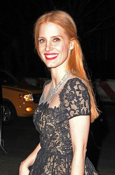 More Pics of Jessica Chastain Little Black Dress (1 of 5) - Jessica Chastain Lookbook - StyleBistro