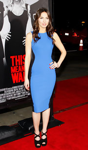 Whitney Cummings donned a sharp two-toned blue and black dress for the 'This Means War' premiere.