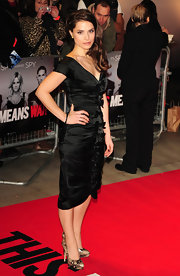 Charlotte Riley wore a bowed LBD with an off-the-shoulder design to the UK premiere of 'This Means War.'