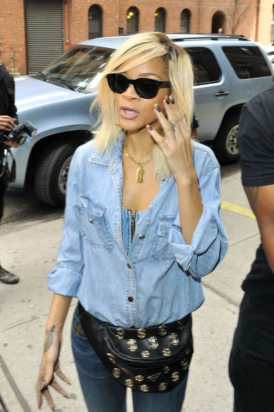 More Pics of Rihanna Medium Straight Cut (1 of 10) - Rihanna Lookbook - StyleBistro