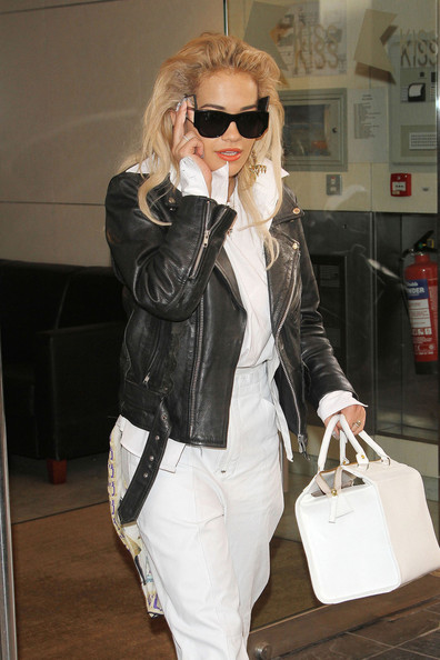More Pics of Rita Ora Leather Jacket (1 of 8) - Rita Ora Lookbook - StyleBistro