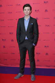 Chris Colfer's classic suit looked totally dapper on the young star.