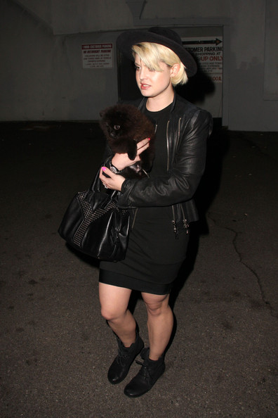 More Pics of Kelly Osbourne Studded Shoulder Bag (1 of 7) - Kelly Osbourne Lookbook - StyleBistro