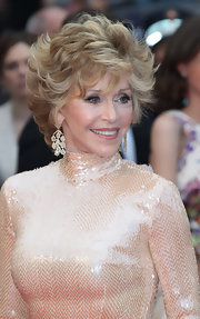 The American Actress and closing ceremony presenter wore beautiful chandelier earrings to the Cannes Film festival.
