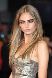 Cara Delevingne smized for a shot with her perfect smoky eye makeup at the world premiere of 'Anna Karenina.'