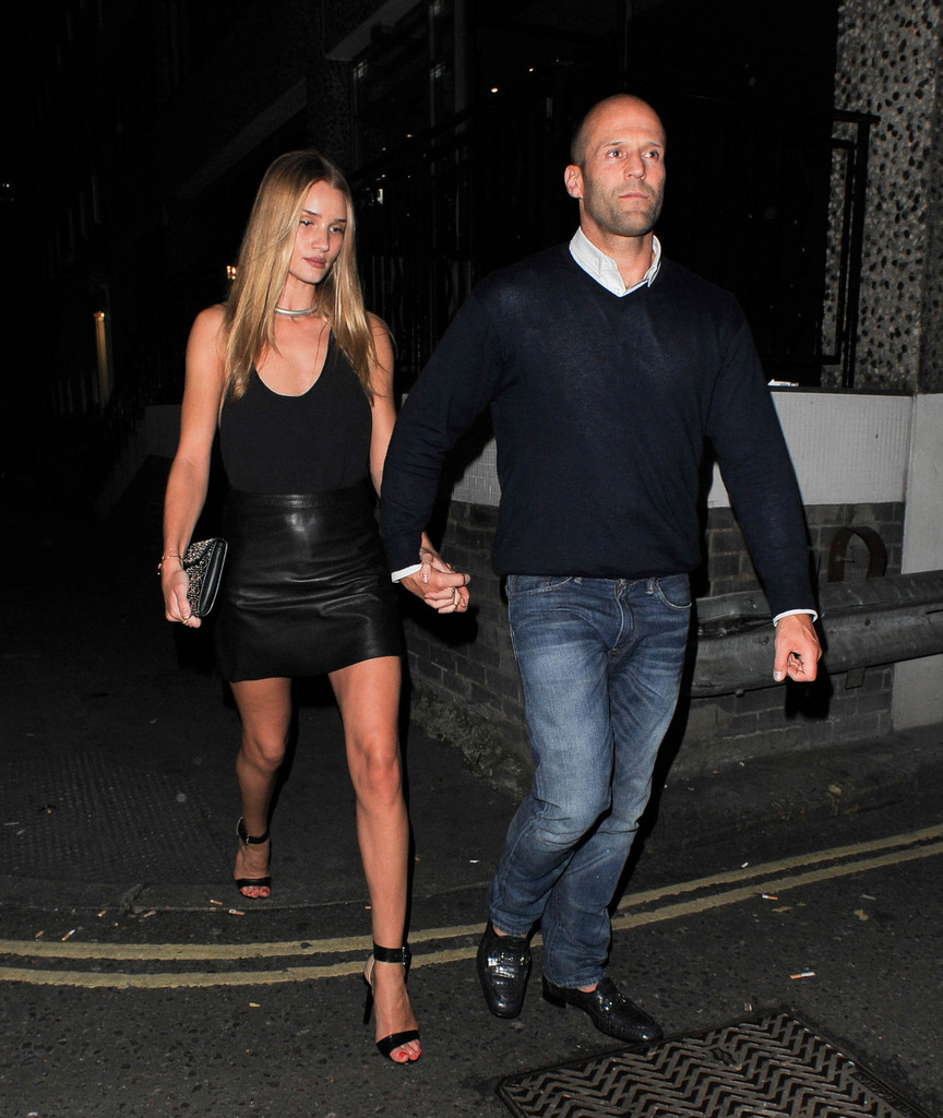 Rosie Huntington-Whiteley and Jason Statham Hold Hands in London