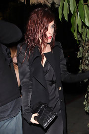 Rumer Willis wore her long auburn hair in messy ringlets at a SAG Awards after party.