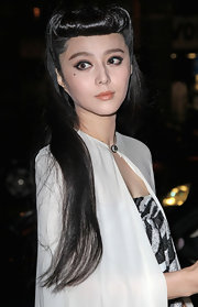 Fan Bingbing wore a muted golden apricot lipstick at the Louis Vuitton fall 2012 fashion show.