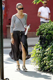 "Sarah Jessica Parker wore this breezy ""Whistler"" skirt while out for a summer walk in NYC."