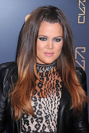 Khloe Kardashian wore a spectrum of gray shadows to create her sultry eye makeup look at the opening of RYU restaurant in NYC.