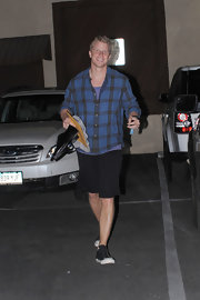 Sean Lowe sported a casual plaid shirt after his dance practice for 'Dancing With the Stars.'