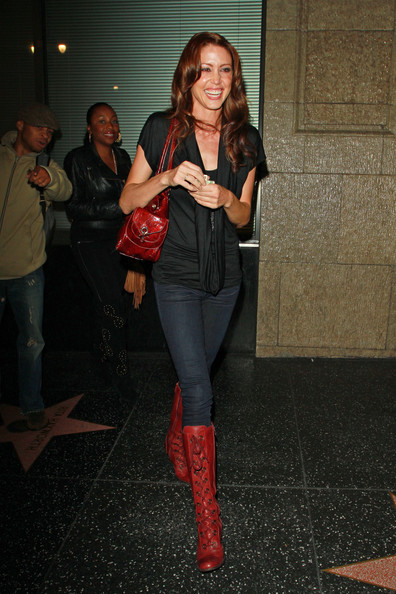 Shannon Elizabeth Lace Up Boots