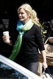 Shannon Tweed looked laid-back and casual by simply tying her hair in a loose ponytail while out in LA.