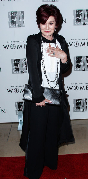 Sharon Osbourne Leather Clutch