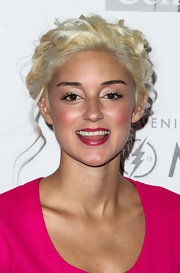 Caroline D'Amore pinner her hair up in platinum-blonde curls at the Evening with Women gala.