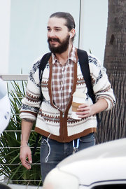 Beard notwithstanding, Shia LaBeouf looked cute and boyish in his cardigan.