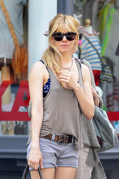 More Pics of Sienna Miller Tank Top (1 of 10) - Sienna Miller Lookbook - StyleBistro