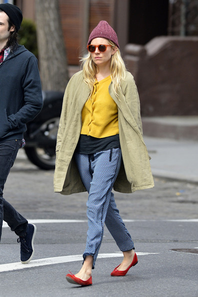 More Pics of Sienna Miller Silk Pants (5 of 8) - Sienna Miller Lookbook - StyleBistro