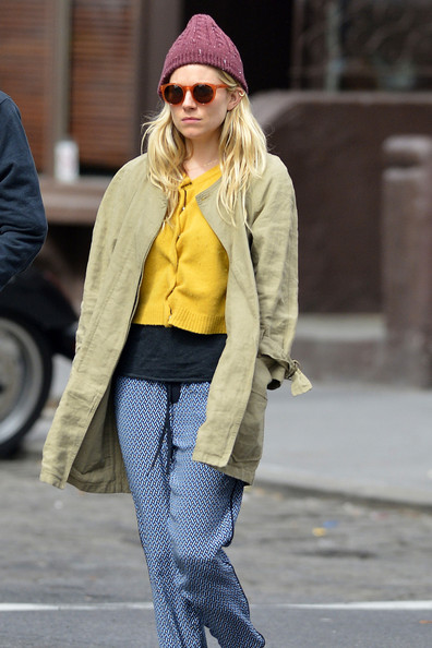 More Pics of Sienna Miller Silk Pants (2 of 8) - Sienna Miller Lookbook - StyleBistro