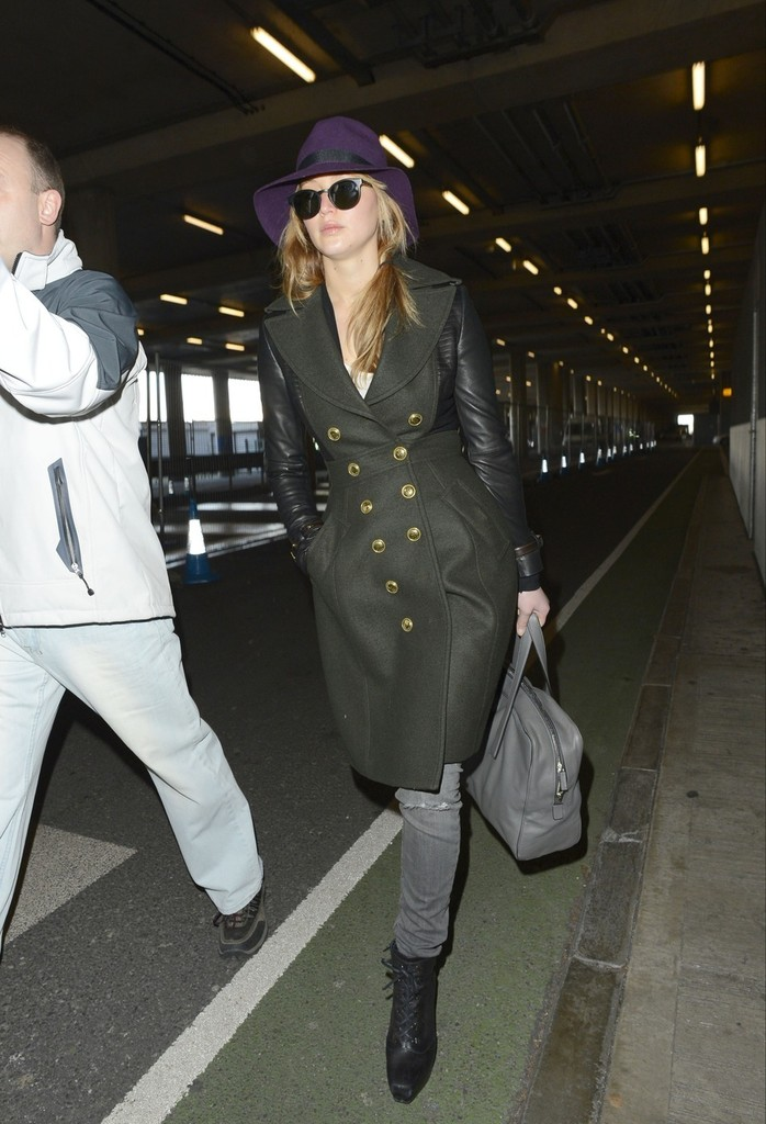 Jennifer Lawrence Lands in London