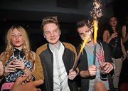 Conor Maynard's two-toned bomber jacket was cool and casual for a night out with friends.