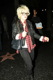 Rock-star daughter Kelly Osbourne donned at classic Chanel quilted bag while eating dinner at famous  LA Katsuya restaurant.