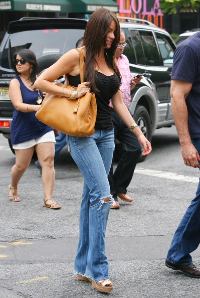 Sofia Vergara Leather Shoulder Bag