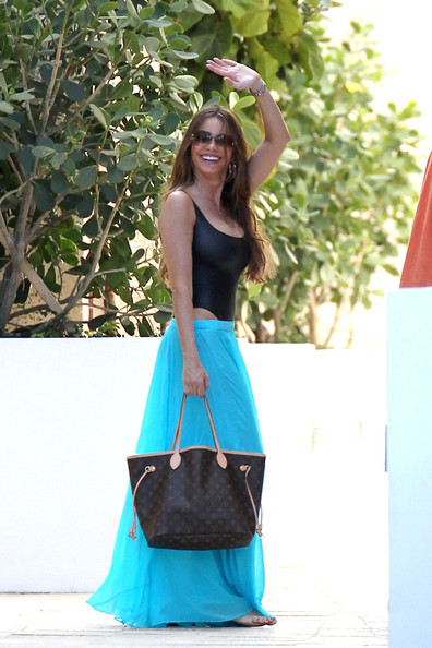 Sofia Vergara's Black One-Piece