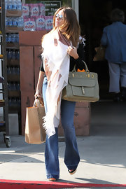 Sofia Vergara chose funky flare jeans for an afternoon trip to the supermarket.