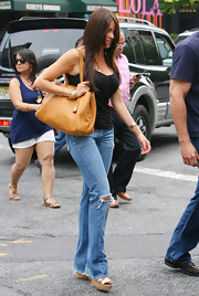 Sofia was spotted out and about in SoHo carrying a leather shoulder bag.