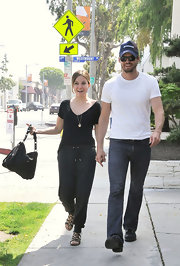 "Sophia Bush strolled West Hollywood with boyfriend Austin Nichols. While she kept her look simple she carried a coveted ""Betty Flap Bag"", which was something to gawk over."