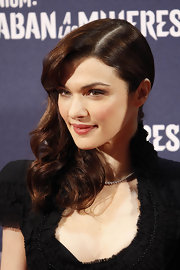 Rachel Weisz wore her hair in a glamorous side-swept 'do at the Madrid premiere of 'The Girl With the Dragon Tattoo.'