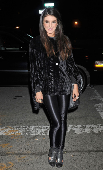 Shenae opted for fanciful footwear, wearing metallic cutout booties complete with cap-toe detailing.