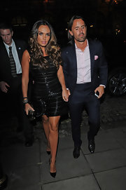 Tamara Ecclestone chose a sequined LBD for her sleek and sexy evening look.