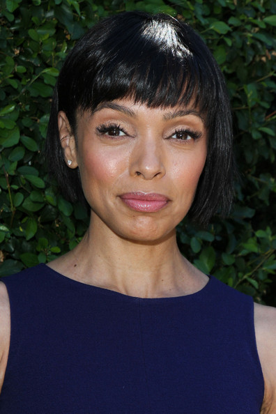 Tamara Taylor Short cut with bangs