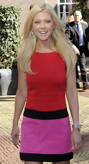 Tara Reid attended a premiere of 'American Reunion' in Amsterdam wearing her signature blond locks long and straight.