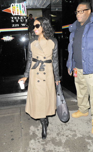 More Pics of Tatyana Ali Trenchcoat (1 of 12) - Tatyana Ali Lookbook - StyleBistro