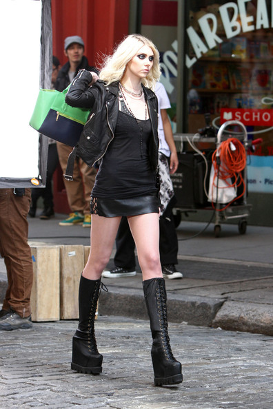 Taylor Momsen Leather Jacket