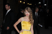 Taylor Swift Wears a Yellow Dolce and Gabbana Dress