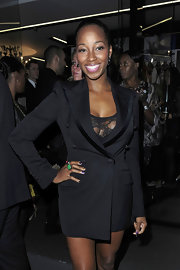 Jamelia showed off her bold blazer while hitting an event in London.