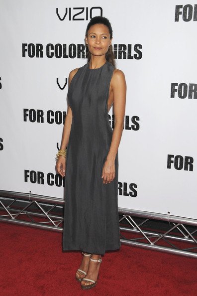 Thandiwe Newton Evening Sandals [for colored girls,face,joint,dress,fashion,sleeve,one-piece garment,waist,flooring,day dress,fashion design,dress,cocktail dress,carpet,dress,estelle,fashion,red carpet,new york,premiere,francia raisa,little black dress,red carpet,cocktail dress,fashion,carpet,dos gardenias stein square neck bralette bikini top,clothing,celebrity,red]