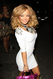 Tila Tequila showed off her voluminous curls while leaving Vendon nightclub.