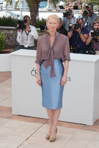 Tilda Swinton Pencil Skirt